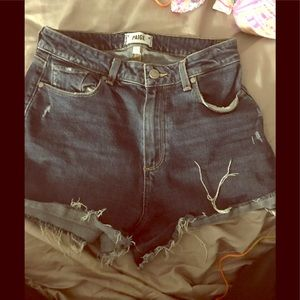 Paige❤️ jean high waisted shorts